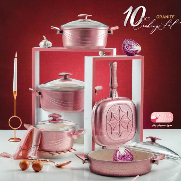 سرویس پخت و پز 10 پارچه اویز مدل سوینگ